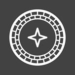 Roulette white icon