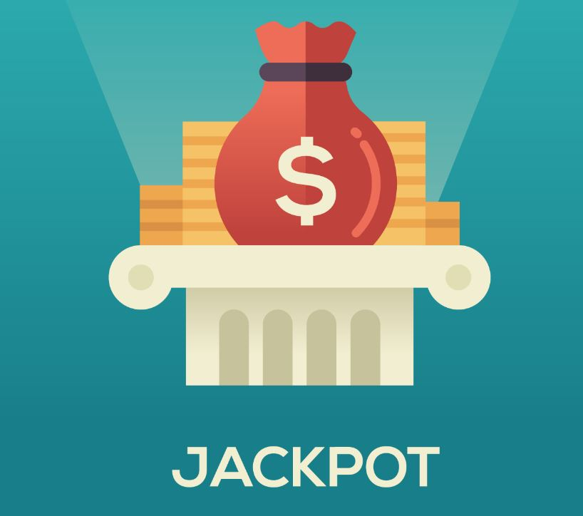 jackpot with dollar sign graphics